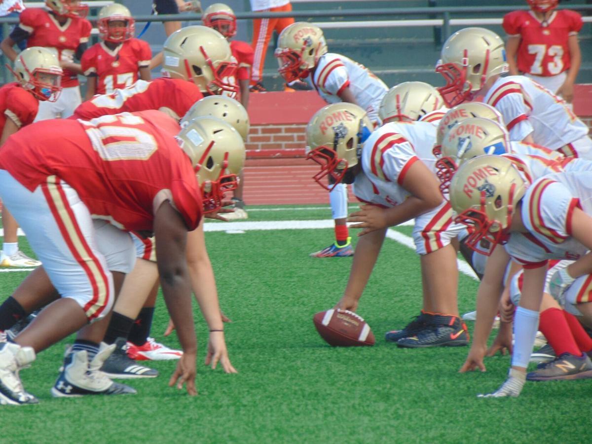Sixth Grade vs. Seventh Grade football at Rome High School's 7th Annual Soap Game