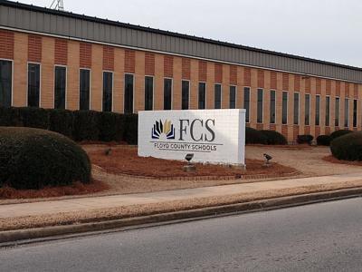 FCS - Floyd County Schools Board of Education sign