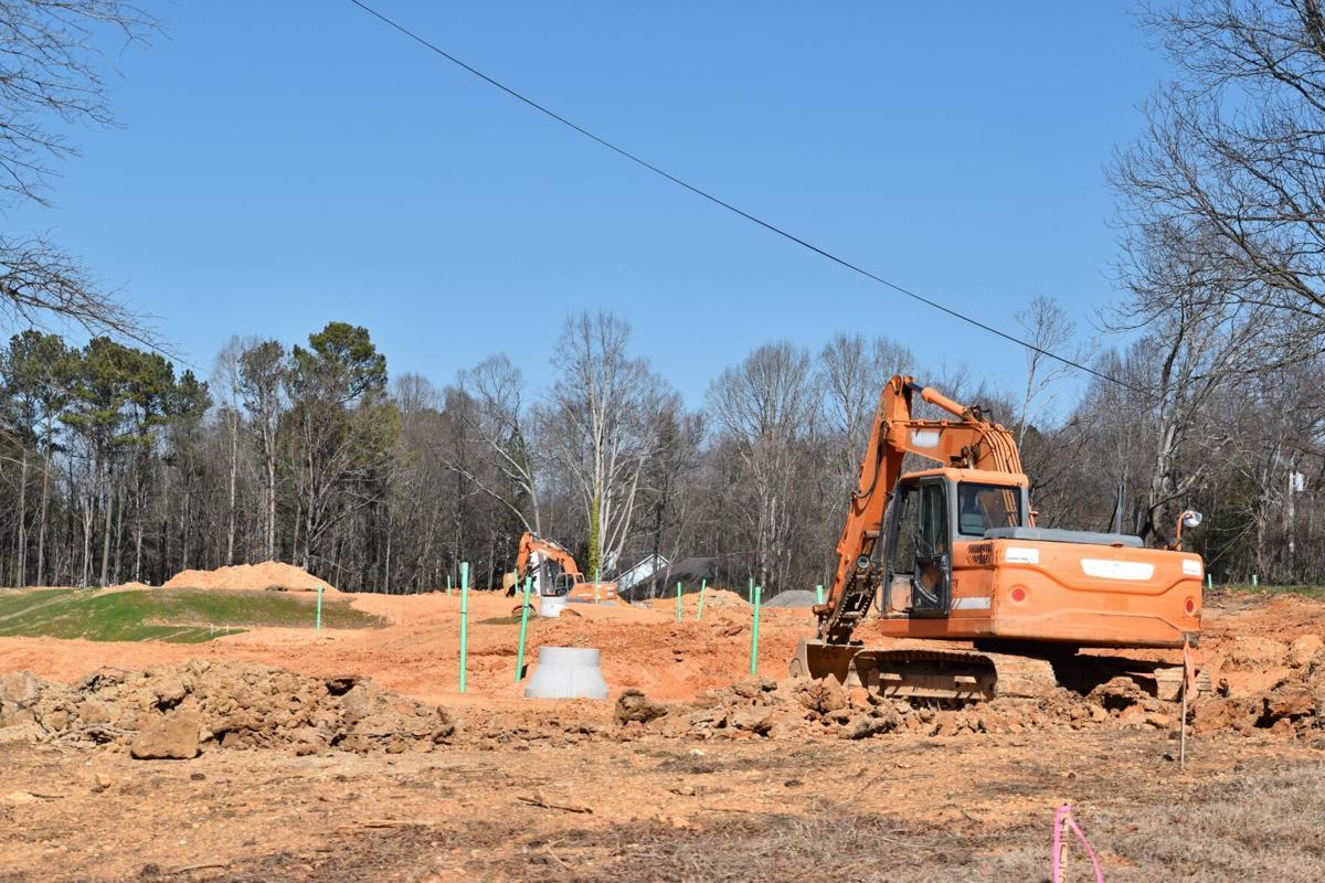 Land development underway for Waterside subdivision
