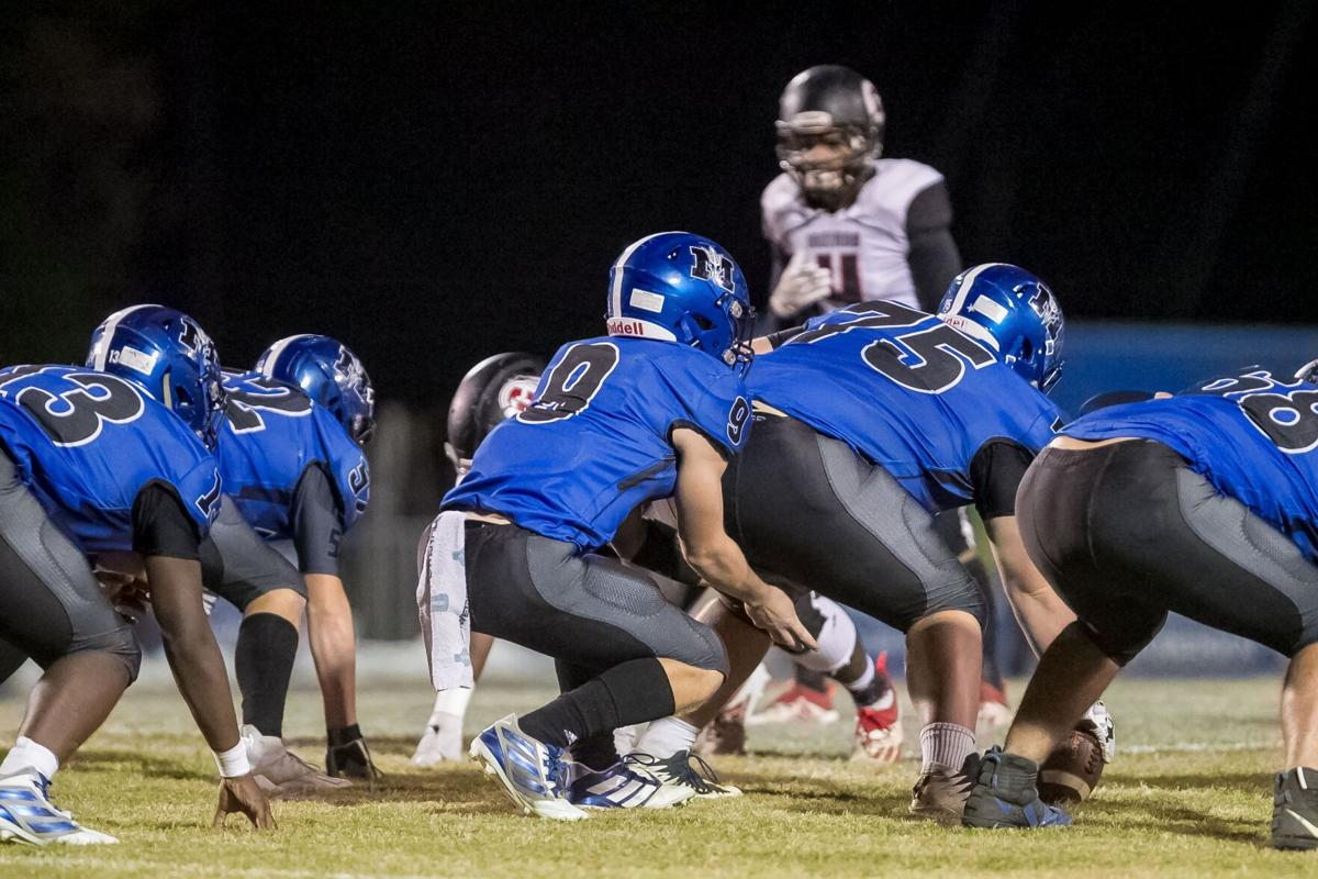Model's Sam Silver and offensive line vs. Chattooga