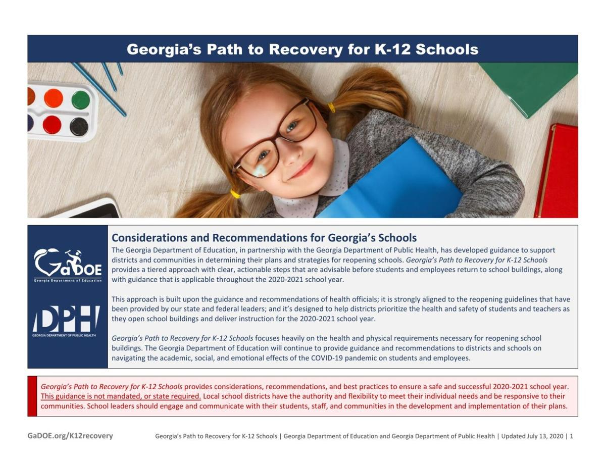 Georgia school reopening guidance