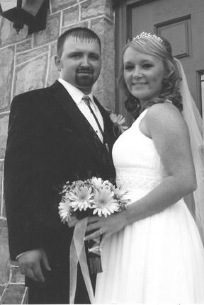 Raymond Brown and Brandi Walker marry
