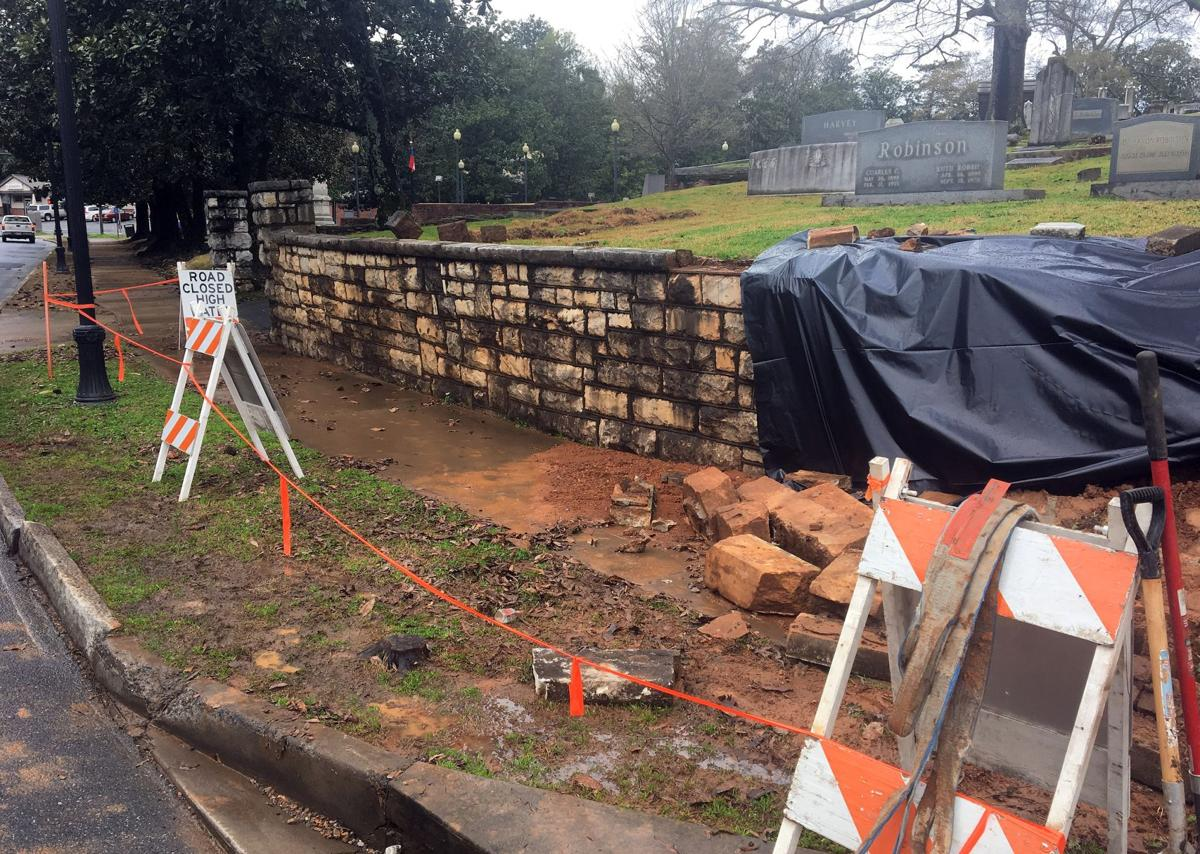 Myrtle Hill retaining wall experiences weather-related collapse