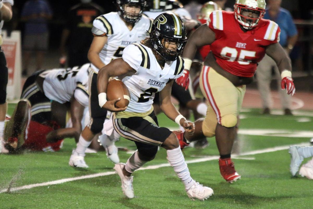 Rockmart edged out by Rome in season opener, 28-21
