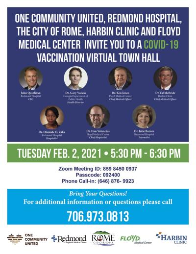One Community United hosting virtual town hall to educate public on COVID-19 vaccine