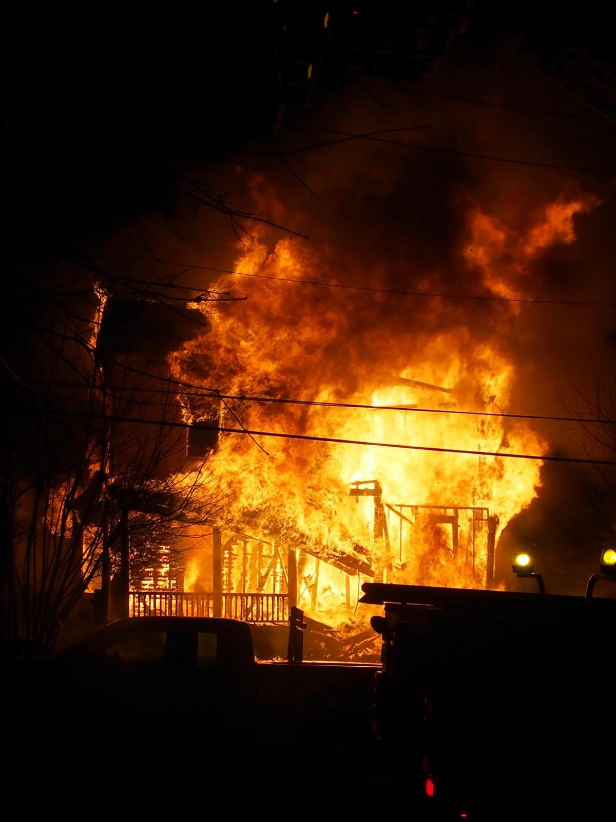 Historic home completely destroyed by fire