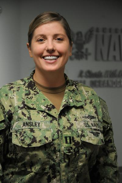 Navy Lt. Meredith Ansley, a meteorology and oceanography officer