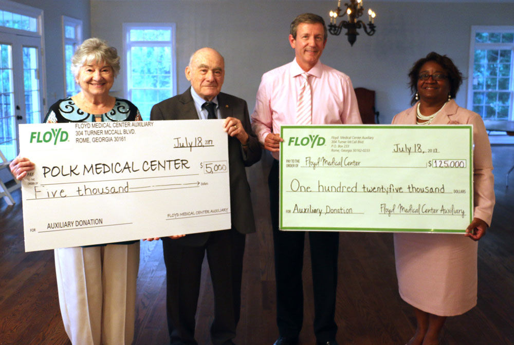 Floyd Medical Center's Auxiliary donation