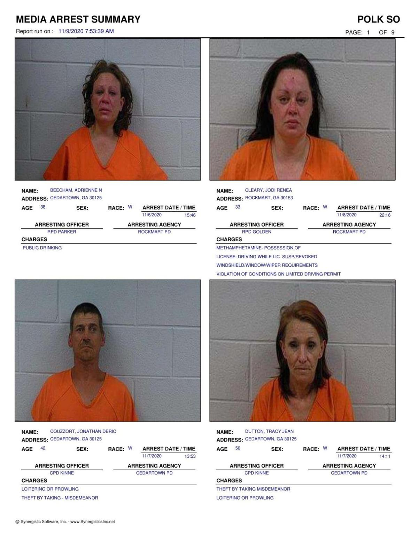 Polk County Jail Report for Monday, Nov. 9