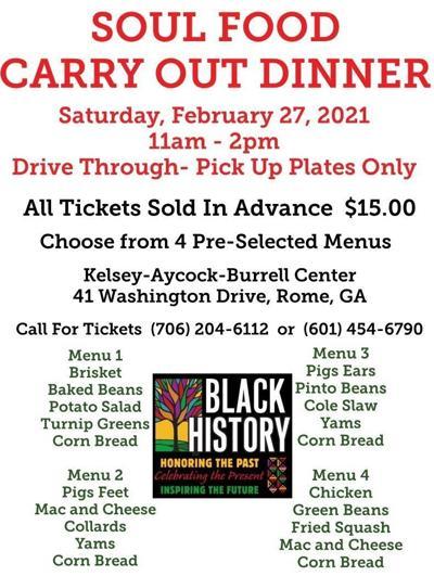 Soul Food Dinner Flyer