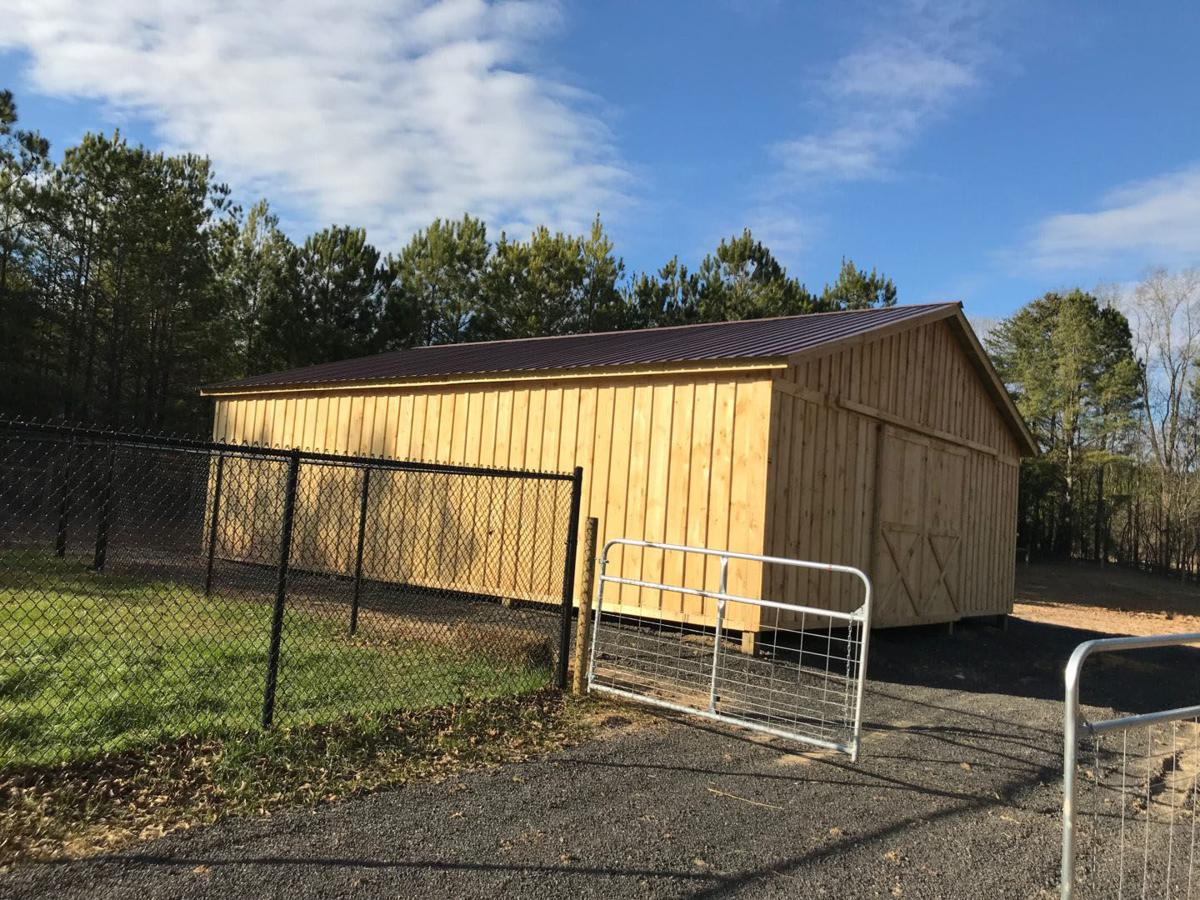 Animal Control barn for large animals nearing completion