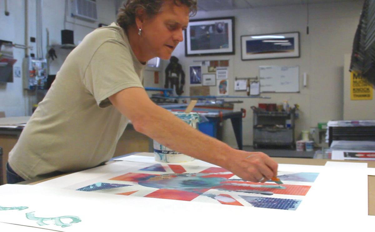 Rick Allen art 2 Rick Allen in studio