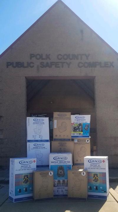 Sheriff's office receives car seats to give to families in need