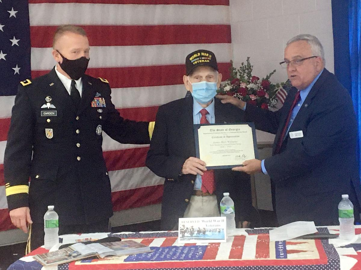 Williams honored for WW II service