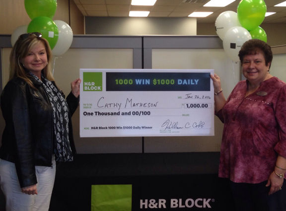 H and r block 1 000 sweepstakes