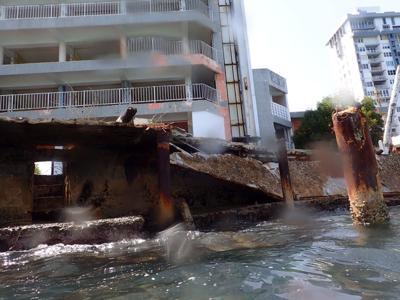 Hotel en estado de abandono se convierte en una amenaza ambiental - Foto via Facebook - septiembre 13 2021