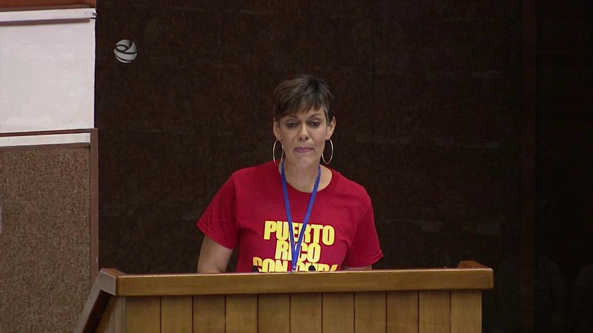 Maria de Lourdes Santiago - PIP - discurso en Cuba - Foto via Radio Rebelde - noviembre 5 2019