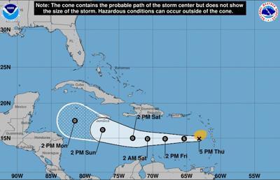 Isaac pasa por el Caribe como depresión tropical