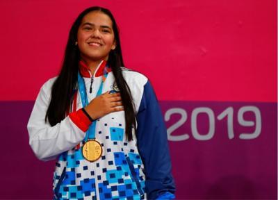 Adriana Diaz - medalla de oro - Panamericanos 2019 - Foto suministrada - agosto 8 2019