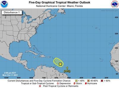 Onda tropical traera mucha lluvia a la isla esta semana - octubre 11 2021