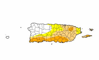 Mapa - sequia - Puerto Rico - Foto suministrada - julio 2 2020