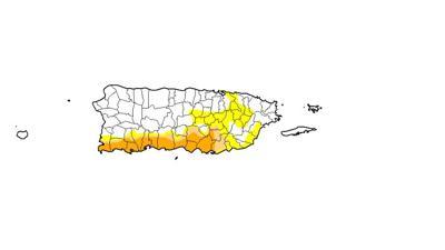 Mapa - sequia - Puerto Rico - septiembre 12 2019