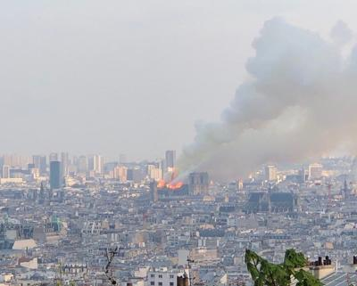 Periodista puertorriqueña visitó la Catedral de Notre Dame horas antes del incendio