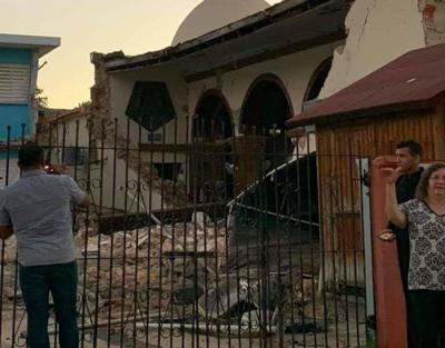 Terremoto - Puerto Rico - sur de la isla - Foto via Twitter - enero 14 2020