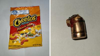 Cheetos - bala - sorpresita - Foto via autoridades Montana - abril 12 2021
