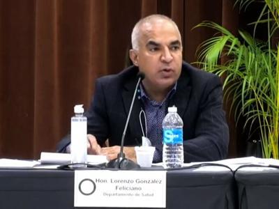 Lorenzo Gonzalez - secretario de Salud - Foto captura de pantalla - noviembre 18 2020