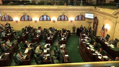 Hemiciclo de la Cámara sesión extraordinaria 1-8-19