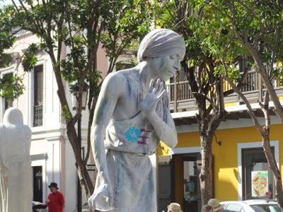 Estatua Viviente - Viejo San Juan - marzo 11 2019