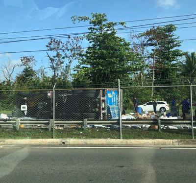 Camion volcado - carretera PR-28 - Bayamon - Foto suministrada 2 - mayo 13 2019
