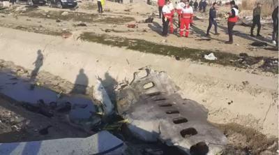 Irán - avión estrellado - enero 8 2019
