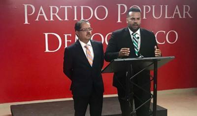 Jose Luis Dalmau - Ramon Luis Cruz Burgos - legisladores PPD - conferencia de prensa - Foto suministrada - marzo 5 2019