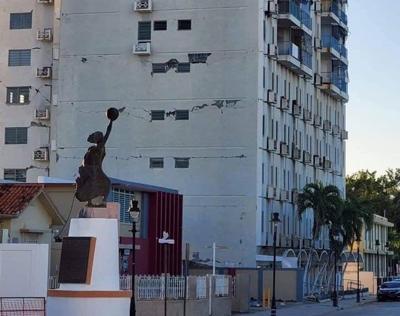 Ponce - edificio - Foto via Twitter - enero 14 2020