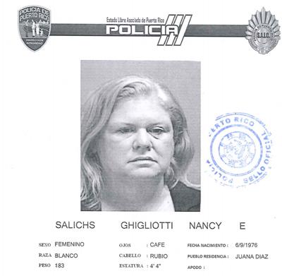 Policia - ficha - mujer - acusada por violar Ley 54 en Juana Diaz - Foto suministrada - junio 9 2021