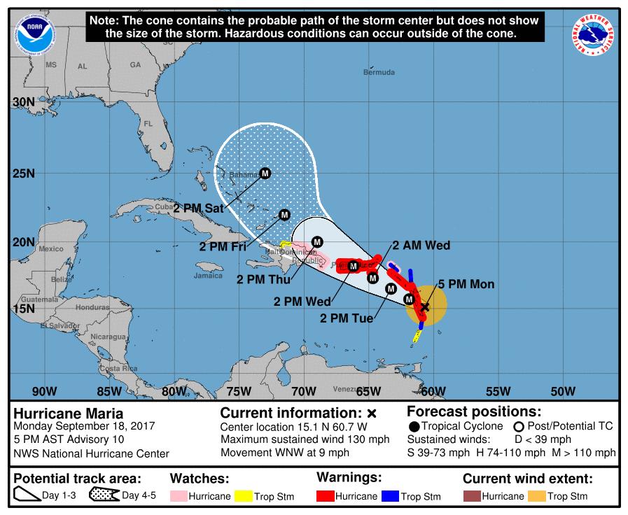 Boletín 8AM huracán María