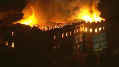 Fuego destruye museo de 200 años en Río de Janeiro