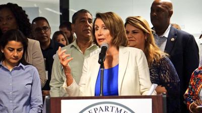 Nancy Pelosi juramentó ayer, como presidenta de la Cámara de Representantes federal.