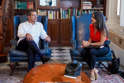 Gobernador Pierluisi - Elizabeth Torres - Foto via Twitter Pierluisi - septiembre 21 2021