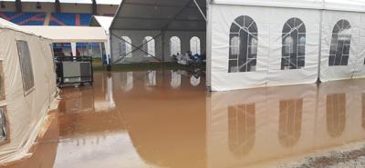 Yauco - inundacion - campamento - Foto via Facebook - enero 24 2020