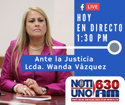 Secretaria de Justicia, Wanda Vázquez Garced.