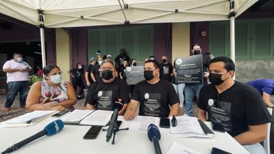 Comerciantes de La Placita en conferencia de prensa - Foto suministrada - septiembre 15 2021
