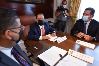 Pedro Pierluisi - Jose Luis Dalmau - Tatito Hernandez - Foto suministrada 2 - febrero 17 2021