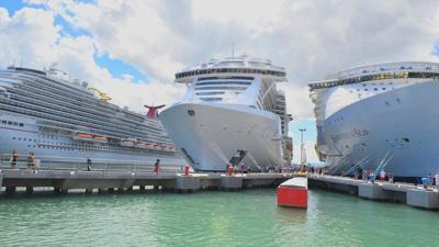 El área donde anclan los barcos crucero es operada actualmente por la Autoridad de Puertos.