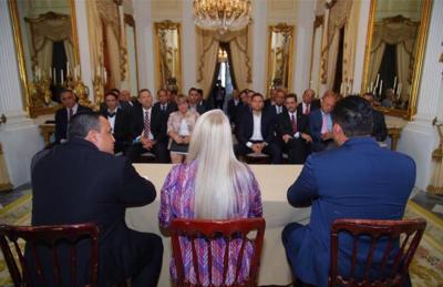 Wanda Vazquez - alcaldes - reunion - Fortaleza - Foto suministrada - agosto 14 2019