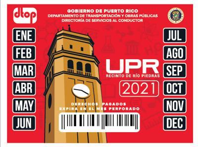 Marbete upr-rp 2021