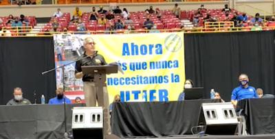 Angel Figueroa Jaramillo - presidente UTIER - voto de huelga - Foto suministrada - abril 6 2021