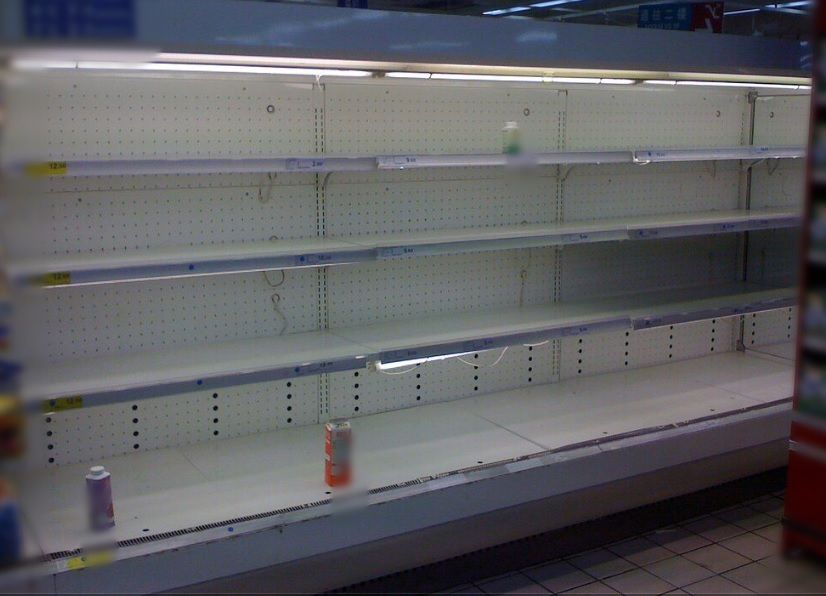 Supermercado - gondola vacia - Foto suministrada - marzo 5 2019